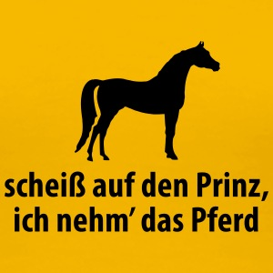 Prinz Pferd Pony scheißegal reiten Single Flirt T-Shirts - Frauen Premium T-Shirt