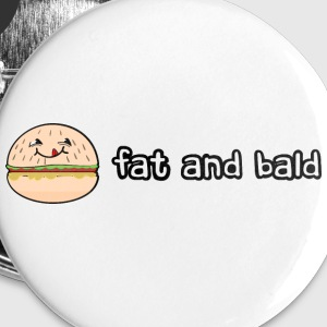 Fat and bald badges - Buttons large 56 mm