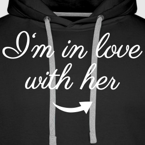In love with her Pullover & Hoodies - Männer Premium Hoodie