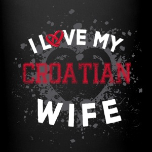 I Love My Croatian Wife Mugs & Drinkware - Full Colour Mug