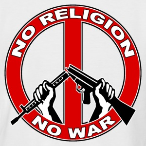 No  religion no war T-Shirts - Men's Baseball T-Shirt
