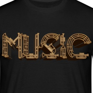 Music 3D - Men's T-Shirt