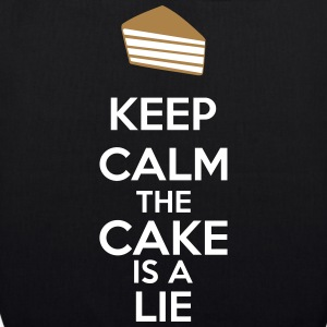 Keep Calm The Cake Is A Lie Bolsas y mochilas - Bolsa de tela ecológica