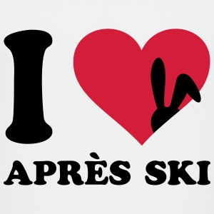 I love Apres Ski Hase Alpin Skiing Party Crew Team T-Shirts - Teenager Premium T-Shirt
