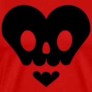 Skull in heart shape T-Shirts - Men's Premium T-Shirt