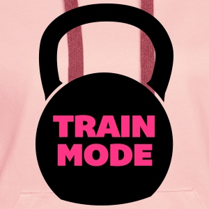 Train Mode Bluzy - Bluza damska Premium z kapturem