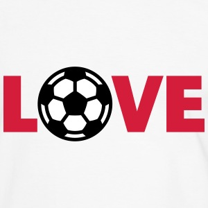 Voetbal – Love (I Love Football) T-shirts - Mannen contrastshirt