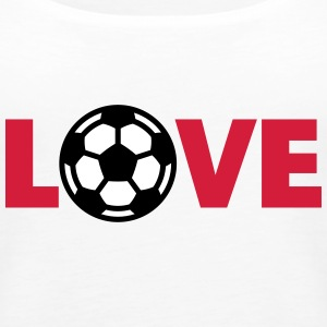 Calcio – Love (I Love Football) Top - Canotta premium da donna