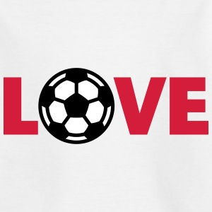 Voetbal – Love (I Love Football) Shirts - Teenager T-shirt
