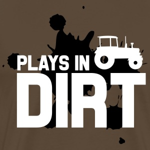 Plays in dirt T-Shirts - Men's Premium T-Shirt