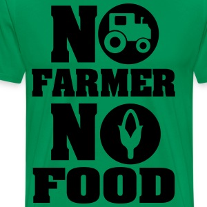 No farmer no food T-shirts - Mannen Premium T-shirt