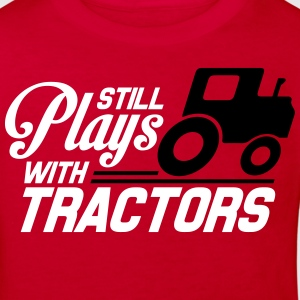 Still plays with tractors T-shirts - Organic børne shirt