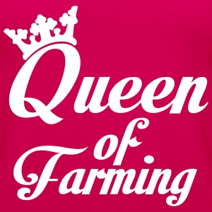 Queen of Farming Topper - Premium singlet for kvinner