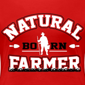 Natural born farmer T-shirts - Vrouwen Premium T-shirt