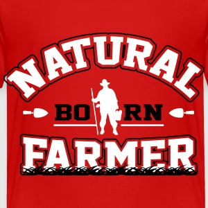 Natural born farmer T-shirts - Børne premium T-shirt