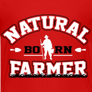 Natural born farmer T-Shirts - Teenager Premium T-Shirt