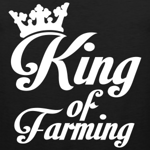 King of Farming Tank Tops - Men's Premium Tank Top