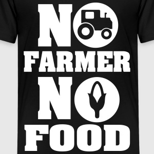 No farmer no food T-shirts - Børne premium T-shirt