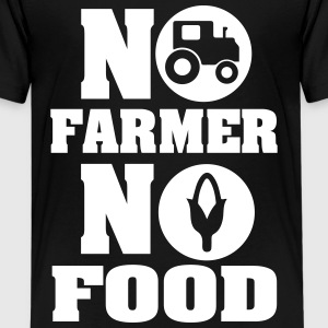 No farmer no food Camisetas - Camiseta premium adolescente