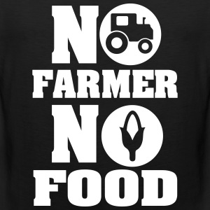 No farmer no food Tank Tops - Männer Premium Tank Top