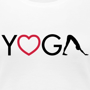 Yoga - Heart - Downward Dog Camisetas - Camiseta premium mujer