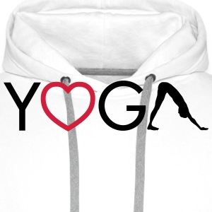 Yoga - Heart - Downward Dog Felpe - Felpa con cappuccio premium da uomo