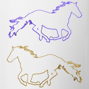 Horses Outlined - Contrasting Mug