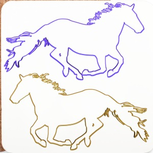 Horses Outlined - Coasters (set of 4)