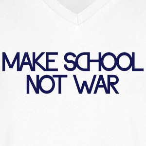 make school not war T-shirts - T-shirt med v-ringning herr