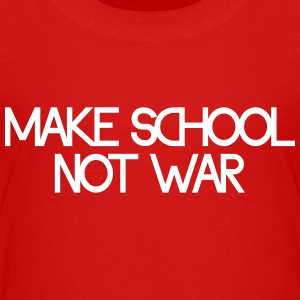 make school not war Skjorter - Premium T-skjorte for tenåringer