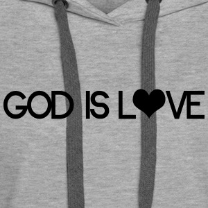 God is love Sweat-shirts - Sweat-shirt à capuche Premium pour femmes