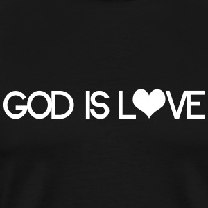 God is love T-Shirts - Men's Premium T-Shirt