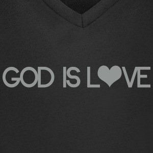 God is love T-shirts - Mannen T-shirt met V-hals