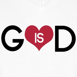 God is love T-Shirts - Men's V-Neck T-Shirt