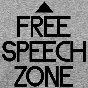 free speech zone T-shirts - Herre premium T-shirt