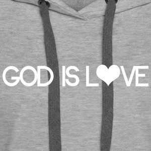 God is love Bluzy - Bluza damska Premium z kapturem