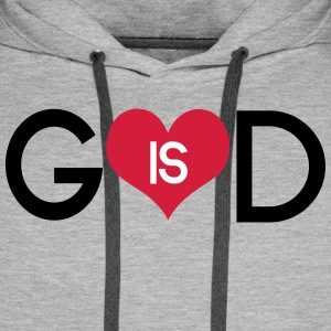 God is love Hoodies & Sweatshirts - Men's Premium Hoodie