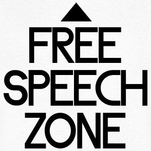 free speech zone T-Shirts - Men's V-Neck T-Shirt
