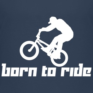 Born to Ride (Vector) - Teenage Premium T-Shirt