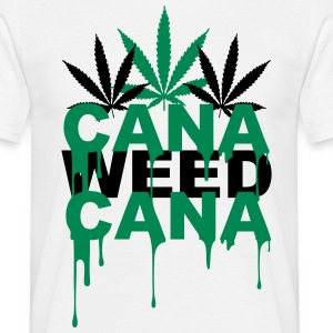 T-shirt Cana weed Coulure - T-shirt Homme
