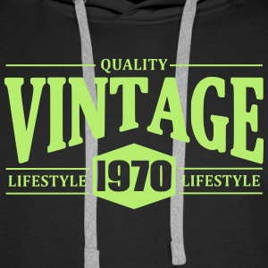 Vintage 1970 Sweat-shirts - Sweat-shirt à capuche Premium pour hommes