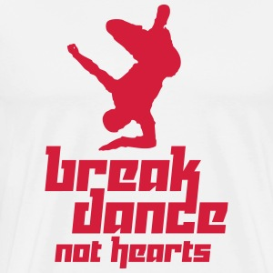 Break Dance Not Hearts (Vector) - Männer Premium T-Shirt