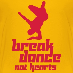 Break Dance Not Hearts (Vector) - Teenage Premium T-Shirt