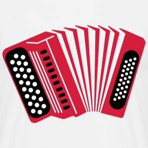 accordeon T-shirts - Mannen T-shirt