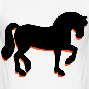 Een trotse paard T-shirts - slim fit T-shirt