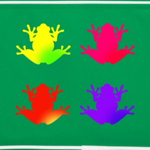 Frog colorful - Retro Tasche