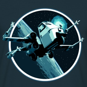 Piaggio ape 50 X-Wing Fighter peoardu idea black - Männer T-Shirt