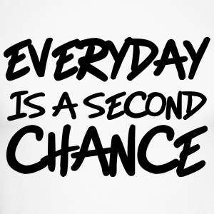 Everyday is a second chance Langærmede t-shirts - Langærmet herre-baseballshirt