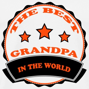 The best grandpa in the world 2222 Tee shirts - T-shirt Premium Homme