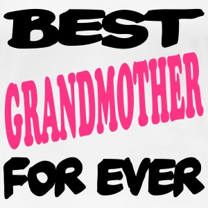 Best grandmother for ever 2222 T-shirts - Premium-T-shirt dam